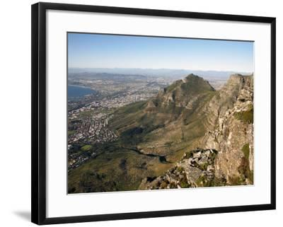 Table Mountain, Cape Town, South Africa, Africa-Andrew Mcconnell-Framed Photographic Print