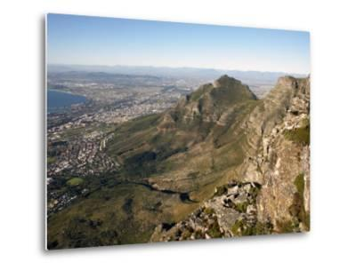 Table Mountain, Cape Town, South Africa, Africa-Andrew Mcconnell-Metal Print