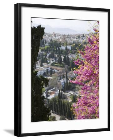 View from Gardens of the Generalife to the Albaicin District, Granada, Andalucia-Ruth Tomlinson-Framed Photographic Print