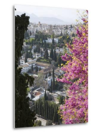 View from Gardens of the Generalife to the Albaicin District, Granada, Andalucia-Ruth Tomlinson-Metal Print