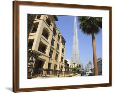 Burj Khalifa, Formerly the Burj Dubai, the Tallest Tower in the World at 818M-Amanda Hall-Framed Photographic Print