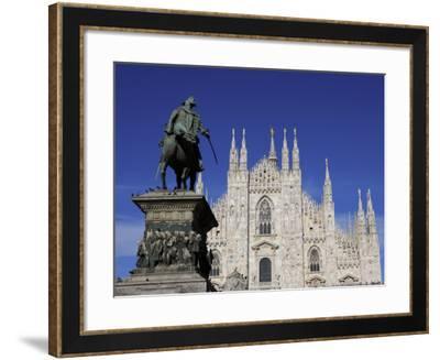 Duomo, Milan, Lombardy, Italy, Europe-Vincenzo Lombardo-Framed Photographic Print