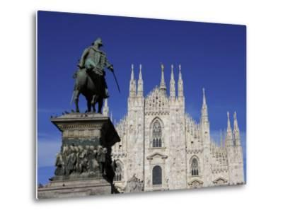 Duomo, Milan, Lombardy, Italy, Europe-Vincenzo Lombardo-Metal Print