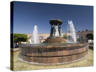 Fuente Las Tarasca, a Famous Fountain, Morelia, Michoacan, Mexico, North America-Richard Maschmeyer-Stretched Canvas Print