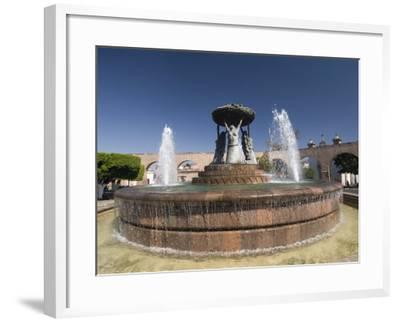 Fuente Las Tarasca, a Famous Fountain, Morelia, Michoacan, Mexico, North America-Richard Maschmeyer-Framed Photographic Print