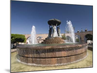 Fuente Las Tarasca, a Famous Fountain, Morelia, Michoacan, Mexico, North America-Richard Maschmeyer-Mounted Photographic Print
