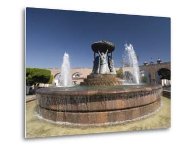 Fuente Las Tarasca, a Famous Fountain, Morelia, Michoacan, Mexico, North America-Richard Maschmeyer-Metal Print