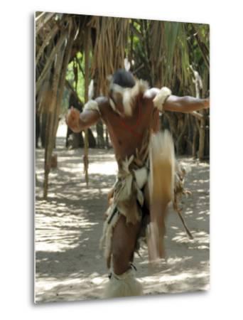 Zulu Tribal Dance Group, Dumazula Cultural Village, South Africa, Africa-Peter Groenendijk-Metal Print