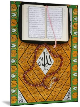 Koran, Rosary and Allah Calligraphy, Paris, France, Europe-Godong-Mounted Photographic Print