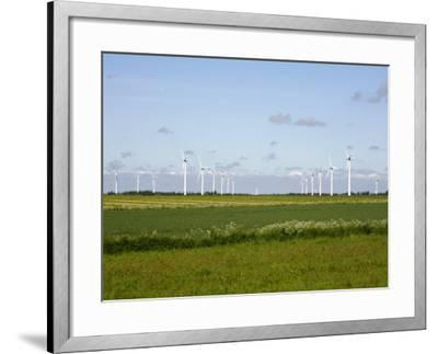 Wind Turbines in South Jutland, Denmark, Scandinavia, Europe-Yadid Levy-Framed Photographic Print