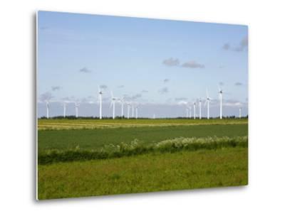 Wind Turbines in South Jutland, Denmark, Scandinavia, Europe-Yadid Levy-Metal Print