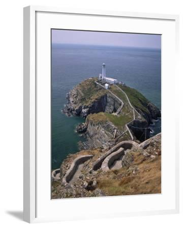 South Stack Lighthouse on the Western Tip of Holy Island, Anglesey-Nigel Blythe-Framed Photographic Print