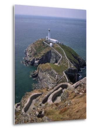 South Stack Lighthouse on the Western Tip of Holy Island, Anglesey-Nigel Blythe-Metal Print