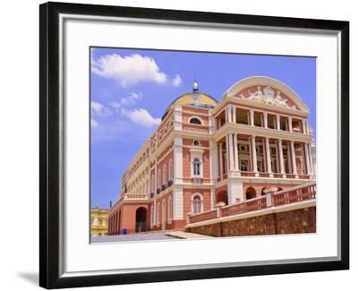 Opera House, Manaus, Amazonas, Brazil, South America-Nico Tondini-Framed Photographic Print