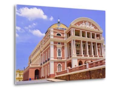 Opera House, Manaus, Amazonas, Brazil, South America-Nico Tondini-Metal Print