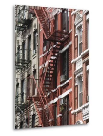 Fire Escapes, Chinatown, Manhattan, New York, United States of America, North America-Martin Child-Metal Print