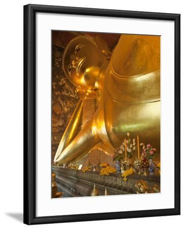 Temple of the Reclining Buddha, Bangkok, Thailand-Nico Tondini-Framed Photographic Print