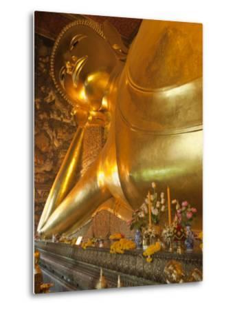Temple of the Reclining Buddha, Bangkok, Thailand-Nico Tondini-Metal Print