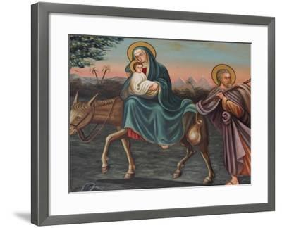 The Flight into Egypt, St. Anthony Coptic Church, Jerusalem, Israel, Middle East-Godong-Framed Photographic Print