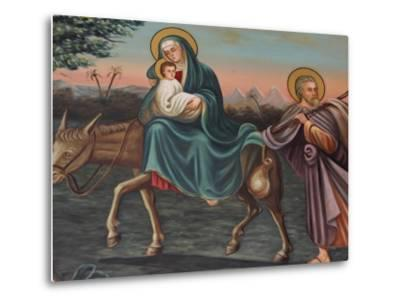 The Flight into Egypt, St. Anthony Coptic Church, Jerusalem, Israel, Middle East-Godong-Metal Print