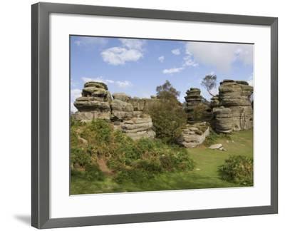 Brimham Rocks, Brimham Moor, Near Ripon, North Yorkshire, England, United Kingdom, Europe-James Emmerson-Framed Photographic Print