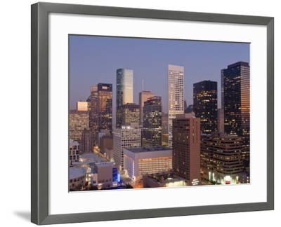 Skyline, Houston, Texas, United States of America, North America-Michael DeFreitas-Framed Photographic Print