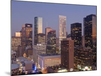 Skyline, Houston, Texas, United States of America, North America-Michael DeFreitas-Mounted Photographic Print