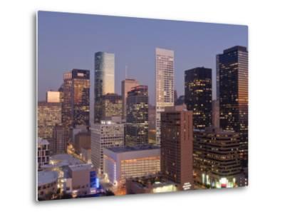 Skyline, Houston, Texas, United States of America, North America-Michael DeFreitas-Metal Print