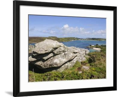 Looking over Towards Tresco from Bryher, Isles of Scilly, Cornwall, United Kingdom, Europe-Robert Harding-Framed Photographic Print