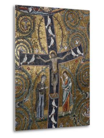 12th Century Fresco of Christ's Triumph on the Cross, San Clemente Basilica, Rome, Lazio-Godong-Metal Print