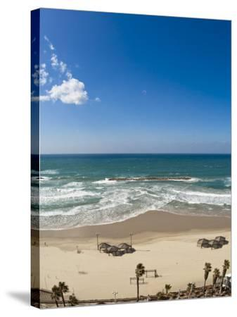 Tel Aviv Beach, Israel, Middle East-Michael DeFreitas-Stretched Canvas Print