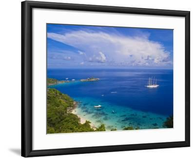 Clipper Ship Anchored Off Ko Miang Island, Similan Islands in the Andaman Sea, Thailand-Nico Tondini-Framed Photographic Print