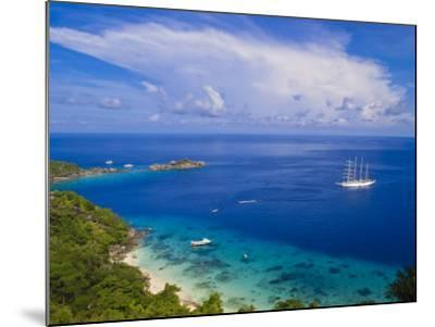 Clipper Ship Anchored Off Ko Miang Island, Similan Islands in the Andaman Sea, Thailand-Nico Tondini-Mounted Photographic Print