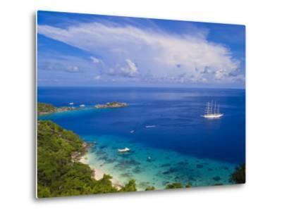 Clipper Ship Anchored Off Ko Miang Island, Similan Islands in the Andaman Sea, Thailand-Nico Tondini-Metal Print