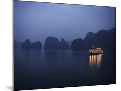 Paddle Steamer at Anchor, Dawn, Halong Bay, Vietnam, Indochina, Southeast Asia, Asia-Purcell-Holmes-Mounted Photographic Print
