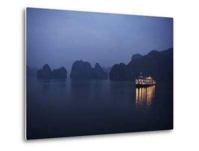 Paddle Steamer at Anchor, Dawn, Halong Bay, Vietnam, Indochina, Southeast Asia, Asia-Purcell-Holmes-Metal Print