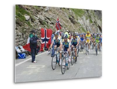 Cyclists Including Lance Armstrong and Yellow Jersey Alberto Contador in the Tour De France 2009-Christian Kober-Metal Print