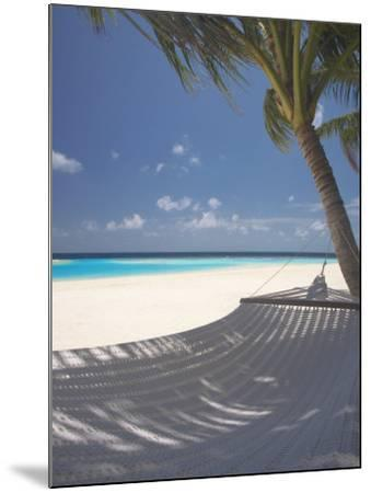 Hammock on Beach, Maldives, Indian Ocean, Asia-Sakis Papadopoulos-Mounted Photographic Print