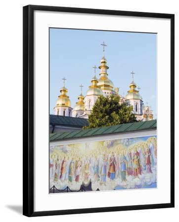 Fresco on Wall of St. Michaels Gold Domed Monastery, 2001 Copy of 1108 Original, Kiev, Ukraine-Christian Kober-Framed Photographic Print