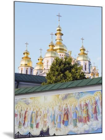 Fresco on Wall of St. Michaels Gold Domed Monastery, 2001 Copy of 1108 Original, Kiev, Ukraine-Christian Kober-Mounted Photographic Print
