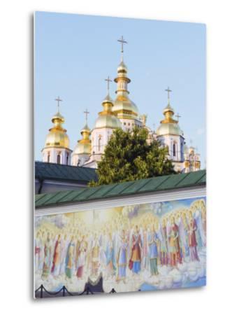 Fresco on Wall of St. Michaels Gold Domed Monastery, 2001 Copy of 1108 Original, Kiev, Ukraine-Christian Kober-Metal Print