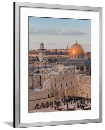 Dome of the Rock and the Western Wall, Jerusalem, Israel, Middle East-Michael DeFreitas-Framed Photographic Print