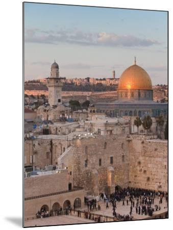 Dome of the Rock and the Western Wall, Jerusalem, Israel, Middle East-Michael DeFreitas-Mounted Photographic Print