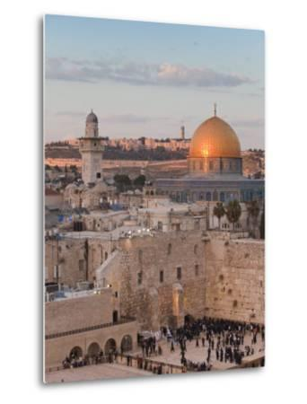 Dome of the Rock and the Western Wall, Jerusalem, Israel, Middle East-Michael DeFreitas-Metal Print