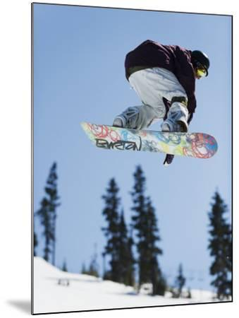 Snowboarder Jumping at Telus Half Pipe Competition 2009, Whistler Mountain-Christian Kober-Mounted Photographic Print