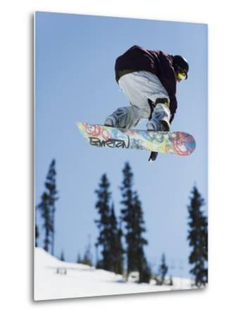 Snowboarder Jumping at Telus Half Pipe Competition 2009, Whistler Mountain-Christian Kober-Metal Print