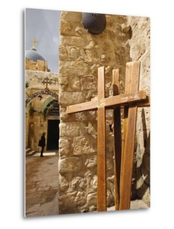 Stations of the Cross on Via Dolorosa, Old City, Jerusalem, Israel, Middle East-Michael DeFreitas-Metal Print