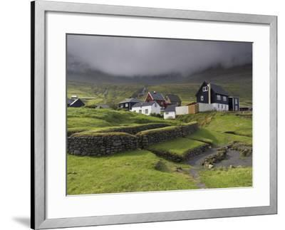 Viking Longhouse Dating from the 10th Century, Archaeological Site of Toftanes-Patrick Dieudonne-Framed Photographic Print