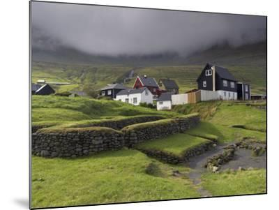 Viking Longhouse Dating from the 10th Century, Archaeological Site of Toftanes-Patrick Dieudonne-Mounted Photographic Print