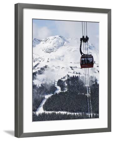 Whistler Blackcomb Peak 2 Peak Gondola, Whistler Mountain, 2010 Winter Olympic Games Venue-Christian Kober-Framed Photographic Print